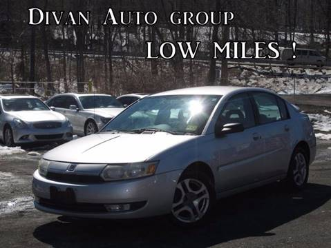 2003 Saturn Ion for sale at Divan Auto Group in Feasterville Trevose PA