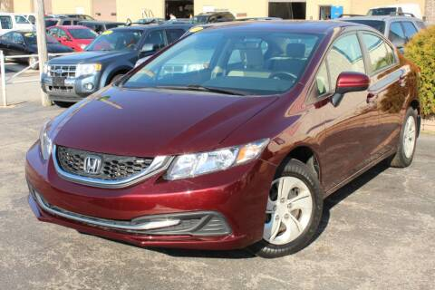 2014 Honda Civic LX for sale at Dynamics Auto Sale in Highland IN