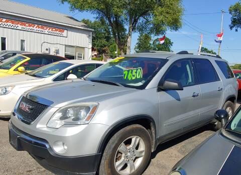 2012 GMC Acadia for sale at Superior Motors in Mount Morris MI