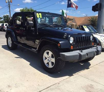 2007 Jeep Wrangler Unlimited for sale at Yari Auto Sales in Houston TX