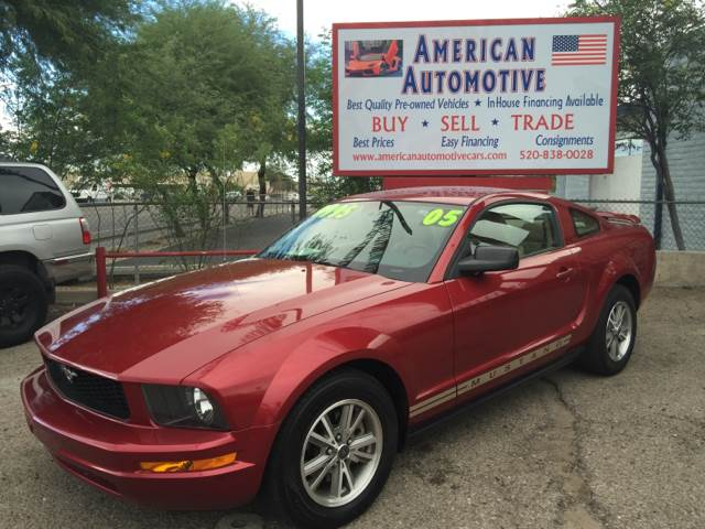 2005 FORD MUSTANG red air conditioning power windows power locks power steering tilt wheel a