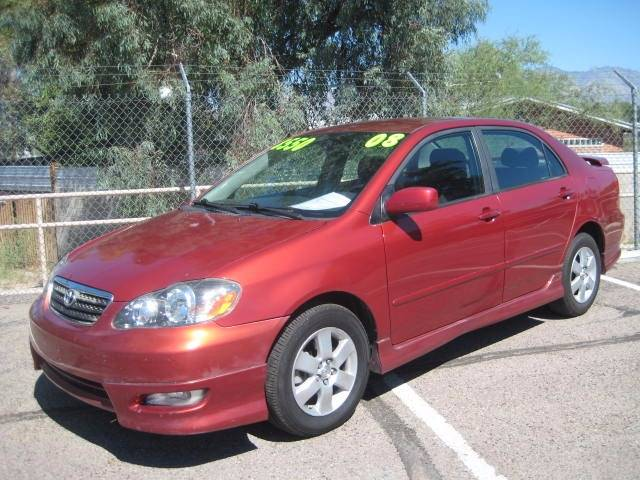 2008 TOYOTA COROLLA S red air conditioning power windows power locks power steering tilt whee
