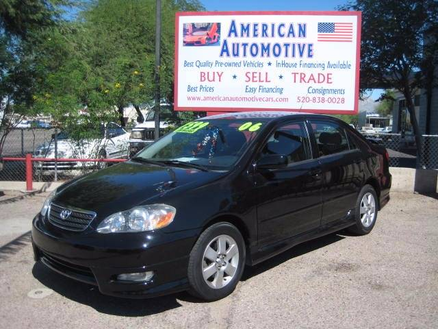 2006 TOYOTA COROLLA S black air conditioning power windows power locks power steering tilt wh