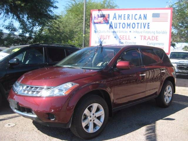 2007 NISSAN MURANO SL 4DR SUV red you might love it you might hate it but regardless of how you