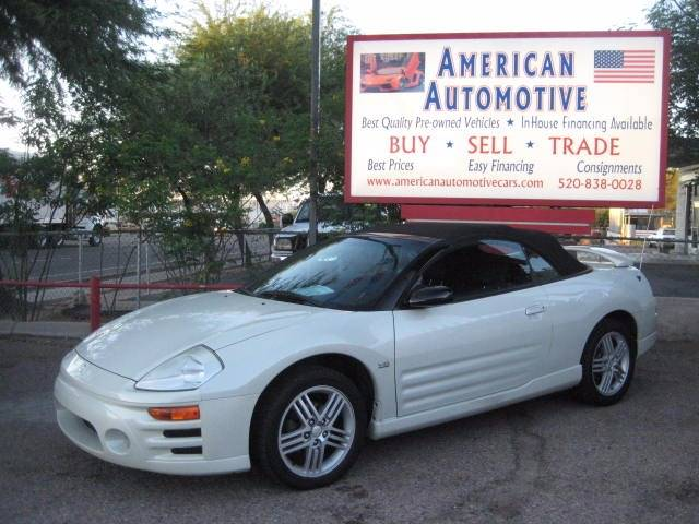2003 MITSUBISHI ECLIPSE SPYDER GT 2DR CONVERTIBLE white air conditioning power windows power lo