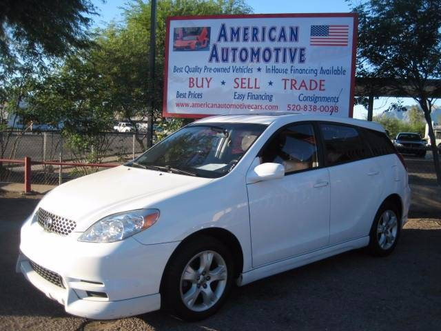 2004 TOYOTA MATRIX XR 4DR WAGON white air conditioning power windows power locks power steerin
