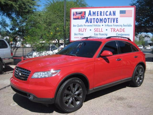 2003 INFINITI FX45 BASE AWD 4DR SUV red abs - 4-wheel anti-theft system - alarm axle ratio - 3