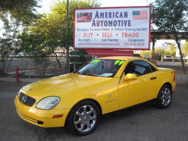 1999 MERCEDES-BENZ SLK-CLASS SLK230 yellow front air conditioning front air conditioning - autom