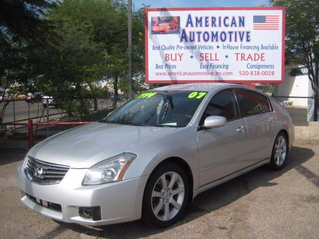 2007 NISSAN MAXIMA 35 SE silver the front windshield is in excellent condition  the paint is in