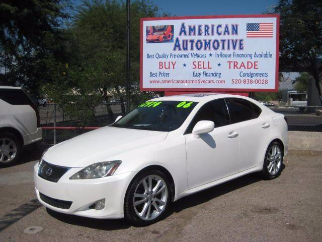 2006 LEXUS IS 250 BASE white the front windshield is in excellent condition  the paint is in gre