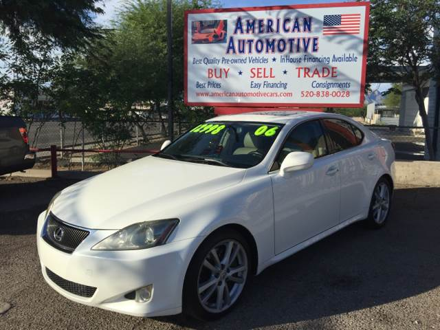 2006 LEXUS IS 350 BASE 4DR SEDAN white the front windshield is in excellent condition  the paint
