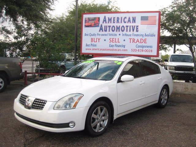 2006 NISSAN MAXIMA 35 SE white the front windshield is in excellent condition  the paint is in