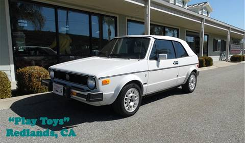 1987 Volkswagen Cabriolet for sale at Play Toys Classic Cars in Redlands CA