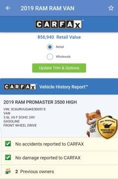 2019 RAM ProMaster Window