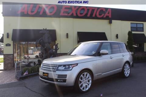 2016 Land Rover Range Rover for sale at Auto Exotica in Red Bank NJ