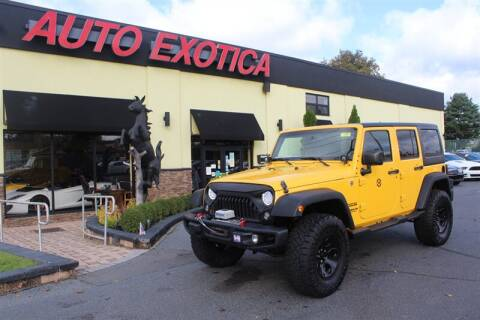 2015 Jeep Wrangler Unlimited for sale at Auto Exotica in Red Bank NJ