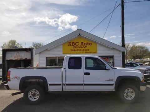 2002 Chevrolet Silverado 2500HD for sale at ABC AUTO CLINIC - Chubbuck in Chubbuck ID