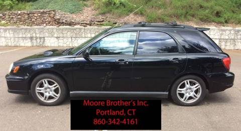 2002 Subaru Impreza for sale at Moore Brothers Inc in Portland CT