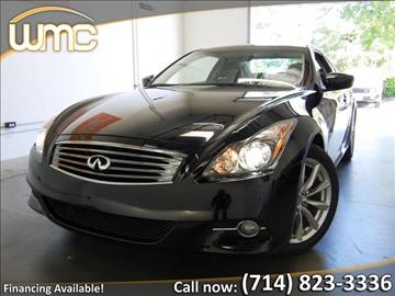 2013 Infiniti G37 Coupe for sale in Westminster, CA