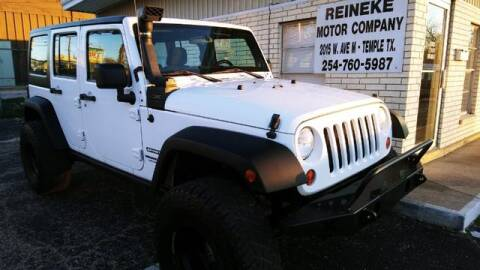 2013 Jeep Wrangler Unlimited Sport for sale at Reineke Motor Company in Temple TX