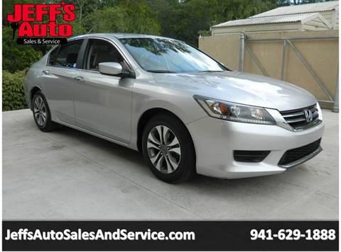 2013 Honda Accord for sale at Jeff's Auto Sales & Service in Port Charlotte FL