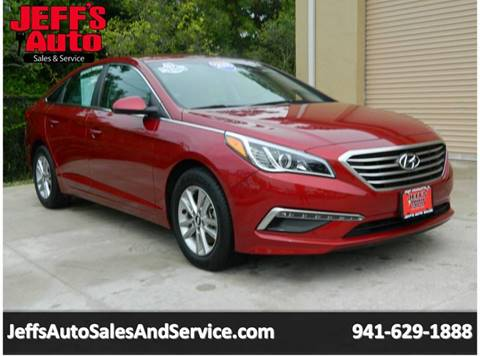 2015 Hyundai Sonata for sale at Jeff's Auto Sales & Service in Port Charlotte FL