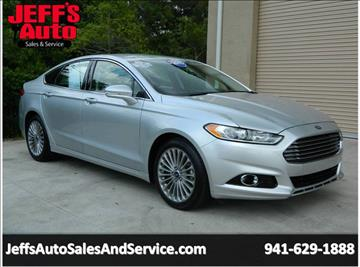 2015 Ford Fusion for sale at Jeff's Auto Sales & Service in Port Charlotte FL