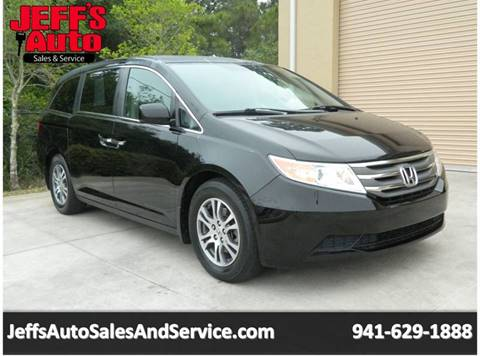 2012 Honda Odyssey for sale at Jeff's Auto Sales & Service in Port Charlotte FL