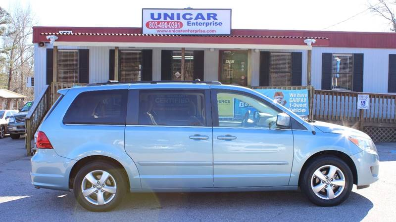 2010 VOLKSWAGEN ROUTAN SE blue immaculate 2010 light blue vw routan with beige leather interior