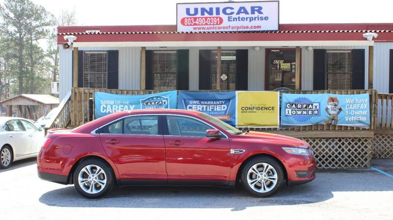 2013 FORD TAURUS SEL 4DR SEDAN burgundy very sharp looking 2013 burgundy ford taurus with beige l