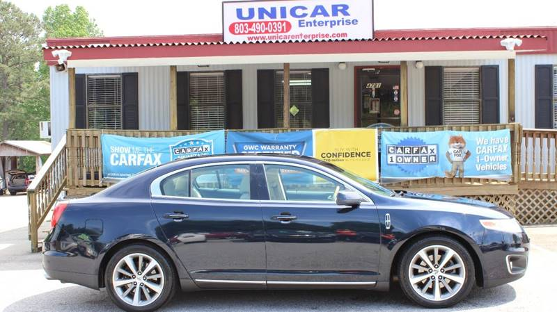 2009 LINCOLN MKS BASE AWD 4DR SEDAN blue sharp looking dark blue 2009 lincoln mks with beige inte