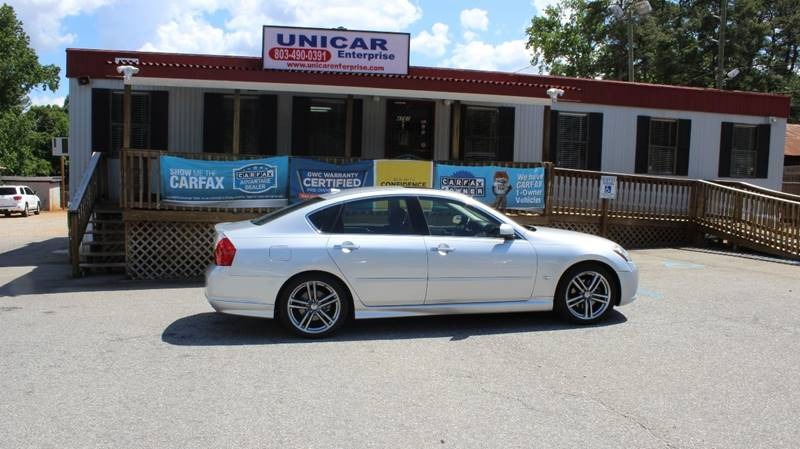 2007 INFINITI M45 SPORT 4DR SEDAN silver this is must see 2007 infiniti m45 with black leather in