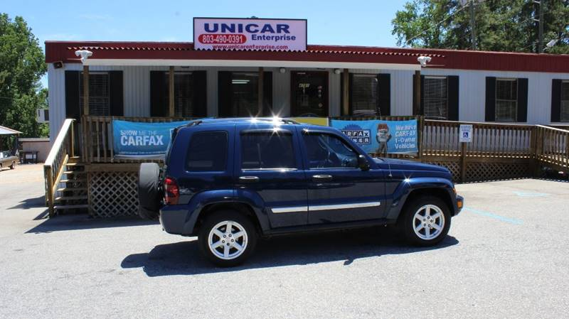 2007 JEEP LIBERTY LIMITED 4DR SUV 4WD blue clean 2007 blue jeep liberty limited with gray leather