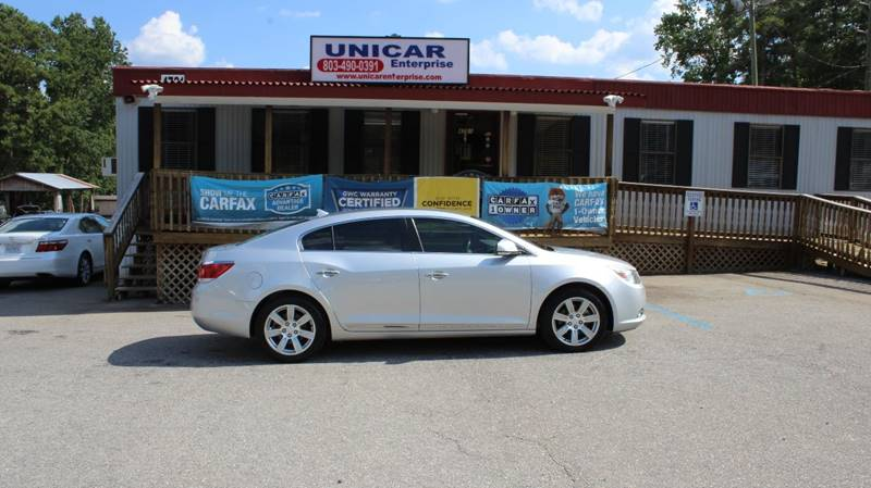 2010 BUICK LACROSSE CXL 4DR SEDAN silver clean 2010 buick lacrosse with gray leather interior pr