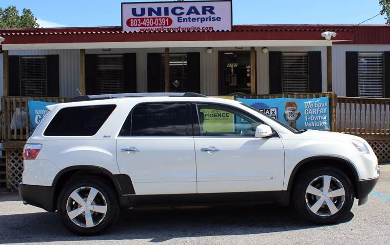 2010 GMC ACADIA SLT-1 AWD 4DR SUV white this is a very nice white 2010 gmc acadia slt-1 and it co
