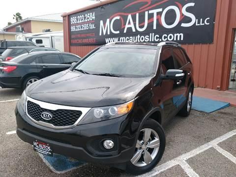 2013 Kia Sorento for sale at MC Autos LLC in Palmview TX