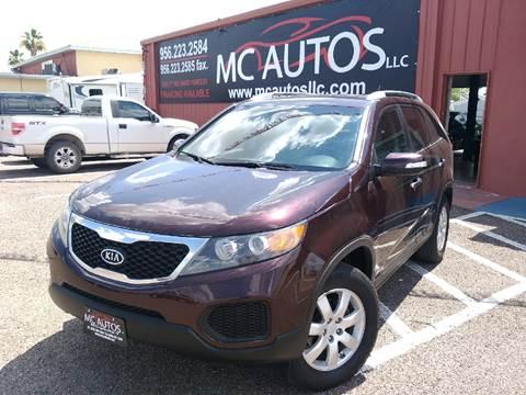 2011 Kia Sorento for sale at MC Autos LLC in Palmview TX
