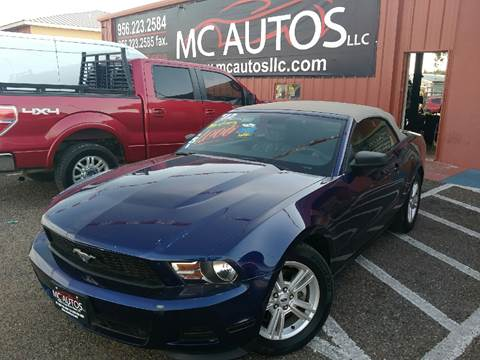 2012 Ford Mustang for sale at MC Autos LLC in Pharr TX