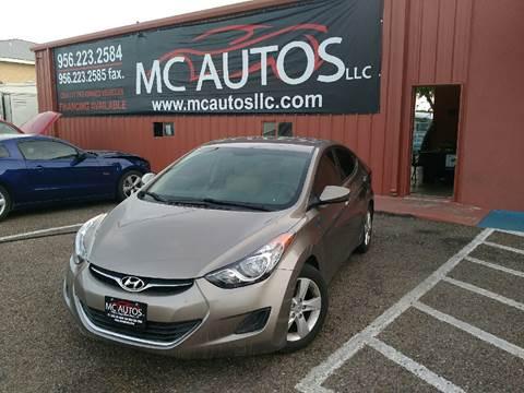 2013 Hyundai Elantra for sale at MC Autos LLC in Pharr TX