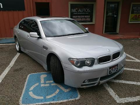 2003 BMW 7 Series for sale at MC Autos LLC in Palmview TX