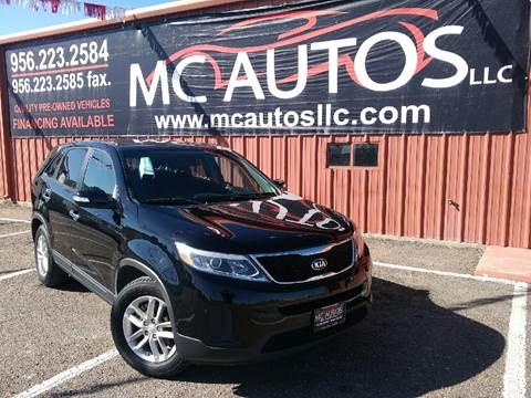 2014 Kia Sorento for sale at MC Autos LLC in Palmview TX
