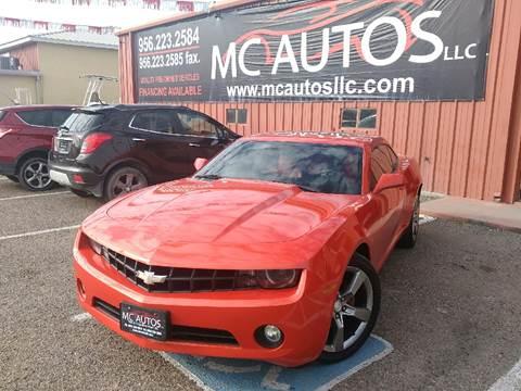2012 Chevrolet Camaro for sale at MC Autos LLC in Palmview TX