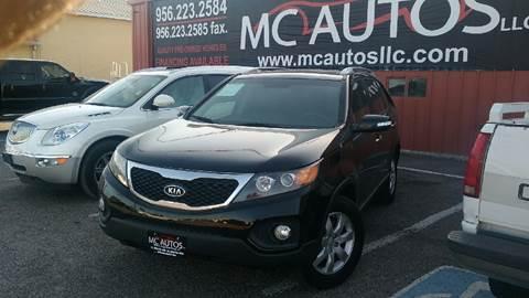 2012 Kia Sorento for sale at MC Autos LLC in Palmview TX