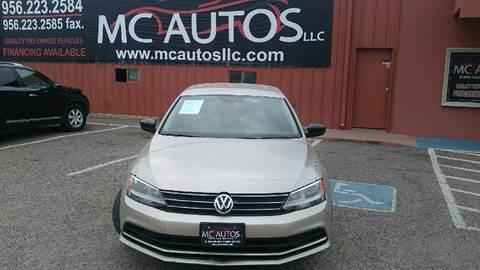 2015 Volkswagen Jetta for sale at MC Autos LLC in Palmview TX