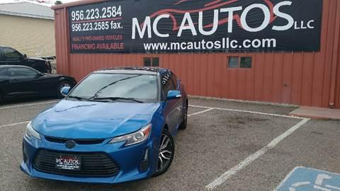 2014 Scion tC for sale at MC Autos LLC in Palmview TX