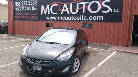2011 Hyundai Elantra for sale at MC Autos LLC in Palmview TX