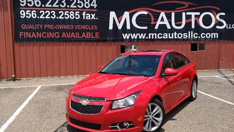 2015 Chevrolet Cruze for sale at MC Autos LLC in Palmview TX