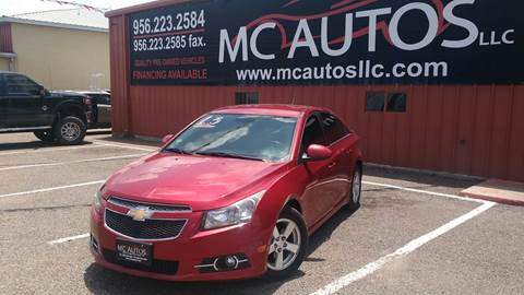 2013 Chevrolet Cruze for sale at MC Autos LLC in Pharr TX