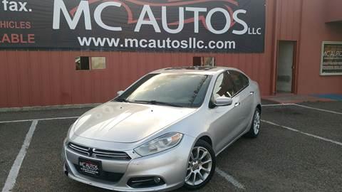 2013 Dodge Dart for sale at MC Autos LLC in Pharr TX