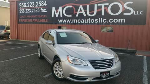 2012 Chrysler 200 for sale at MC Autos LLC in Pharr TX